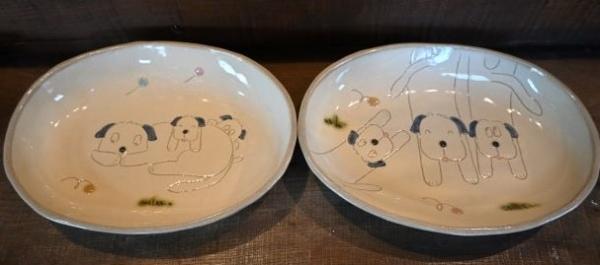 益子焼(楕円皿)